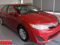 Clean CARFAX. RED 2012 Toyota Camry LE FWD 6-Speed