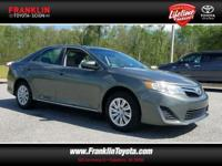 Camry LE, 2.5L I4 SMPI DOHC, and Green. Welcome to