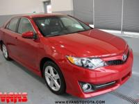 Clean CARFAX. Certified. RED 2012 Toyota Camry SE FWD