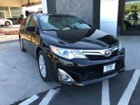 Clean CARFAX One Owner. Black 2012 Toyota Camry XLE