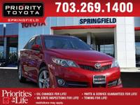 Options:  2012 Toyota Camry Se|Red|Clean Carfax.