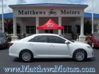 **2012 TOYOTA CAMRY LE**1-OWNER**CLEAN CARFAX**36,752