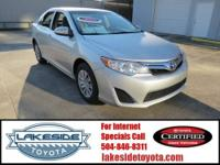 Toyota Certified. What a price for a 12! Drive on over
