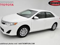 Camry LE, Toyota Certified, 30+ MPG!, And CLEAN CARFAX!