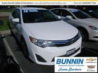 Options:  2012 Toyota Camry White|You've Been Looking