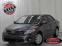 Corolla LE, Toyota Certified, and Magnetic Gray