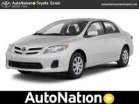 THIS 2012 Toyota Corolla IS TOYOTA FACTORY CERTIFIED