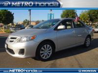 This 2012 Toyota Corolla LE is proudly offered by Metro