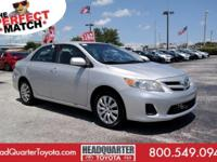 Carfax One-Owner Vehicle. This Toyota Corolla boasts a