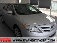 SILVER 2012 Toyota Corolla LE FWD 4-Speed Automatic