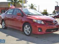 You're looking at a 2012 Toyota Corolla S in Flame