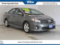 CARFAX One-Owner! 2012 Toyota Corolla S in Magnetic