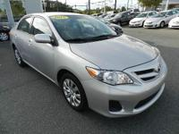 TERRIFIC SHAPE GREAT GAS MILEAGE 2012 TOYOTA COROLLA LE