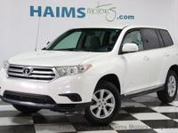 2012 Toyota Highlander. Why wait? Call today for a test