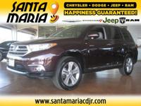 Options:  2012 Toyota Highlander Limited 4Wd|One Owner;