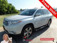 2012 Toyota Highlander Limited White. Toyota Certified.