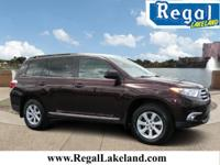 Purple 2012 Toyota Highlander SE AWD 5-Speed Automatic