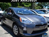 This Prius c features: 1.5L 4-Cylinder Atkinson-Cycle