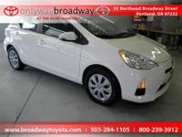 JUST TRADED LOCALLY OWNED/ PRIUS C/ ALLOY WHEELS/