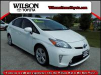 Clean CARFAX. Blizzard Pearl 2012 Toyota Prius Five FWD