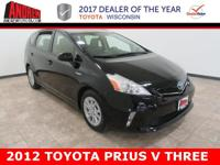 CARFAX One-Owner. Clean CARFAX. Black 2012 Toyota Prius