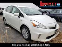 CARFAX One-Owner. Super White 2012 Toyota Prius v Two