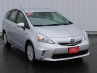 Options:  2012 Toyota Prius V Two|Silver|Accident Free