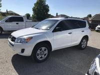 Cloth. New Price!  White 2012 Toyota RAV4 FWD 4-Speed