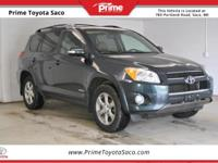 2012 Toyota RAV4 Limited in Black Forest Pearl! With