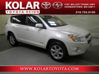 RAV4 Limited, 4WD, Blizzard Pearl, ONE Owner Per AUTO