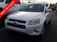 2012 Toyota RAV4 Limited Super White. ABS brakes, Alloy
