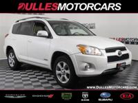 Super White 2012 Toyota RAV4 Limited 4WD 4-Speed