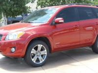 New Price! 4WD, Cloth. CARFAX One-Owner. Red 2012