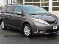 Predawn Gray Mica 2012 Toyota Sienna Limited 7