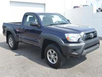 4WD. Stick shift! LOW MILES! This 2012 Toyota Tacoma is