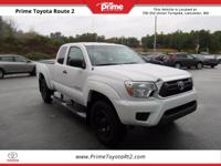 Certified. 2012 Toyota Tacoma in Super White. 4WD.