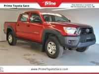 CARFAX One-Owner. 2012 Toyota Tacoma in Barcelona Red