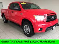 Recent Arrival! 2012 Toyota Tundra in Red, 4WD, Black