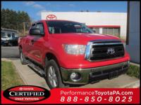 ONE OWNER!! 2012 TOYOTA TUNDRA!! 4WD, DOUBLE CAB, 4.6L