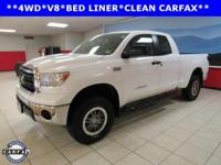 4WD, Cloth. White 2012 Toyota Tundra Grade 4WD 6-Speed