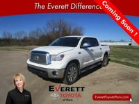 Recent Arrival! 2012 Toyota Tundra Limited White