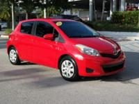 Options:  2012 Toyota Yaris Le|Fabric Seat Trim|Dual