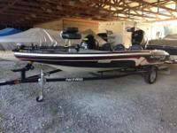 This 2012 17' Tracker Nitro Z6 Bass Boat was harmed in