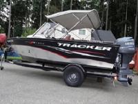 Tracker boats are all aluminum construction. There are
