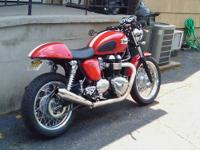 2012 TRIUMPH THRUXTON 440 MILES. BIKE WAS PURCHASED