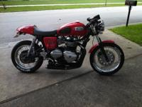 For Sale 2012 Triumph Thruxton with many upgrades! D&D