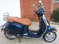 2012 Vespa 300 GTS with just 1,596 miles on it and in