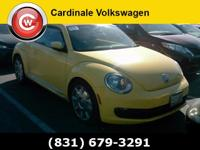 Clean CARFAX. Saturn Yellow 2012 Volkswagen Beetle 2.5L