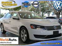 TOP-OF-THE-LINE VW CERTIFIED 2012 PASSAT SE W/