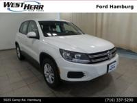 New Price! 2012 Volkswagen Tiguan S 4Motion Candy White